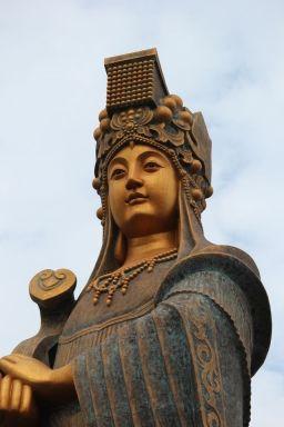 Mazu Statue in Sinwu, Taiwan