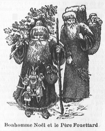 Pere Noel and Pere Fouettard